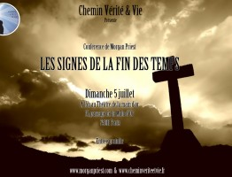 Conférence de Morgan Priest : Les signes de la fin des temps  Au théâtre de la main d'or 15, passage de la main d'or 75011 Paris  Entrée gratuite